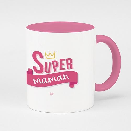 Mug Personnalisé Fête des Mères Cadeau pas cher Super Maman