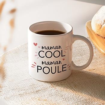 Mug fête des mères maman cool à personnaliser