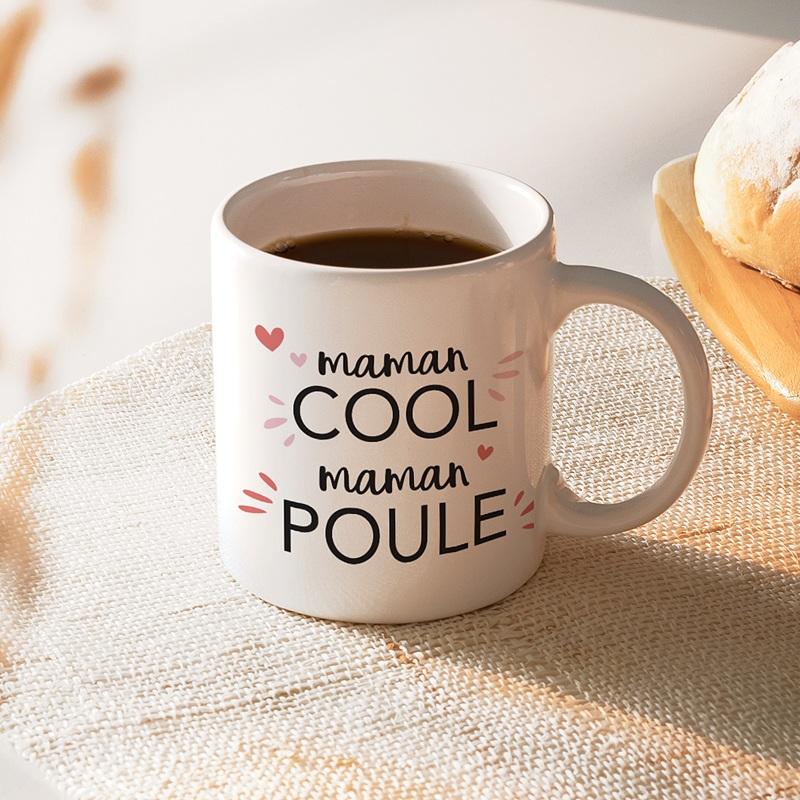 Mug Personnalisé Fête des Mères Idée cadeau Maman Cool Maman Poule