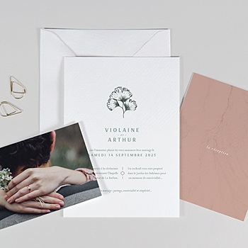 Faire-part mariage nature Kinfolk Style