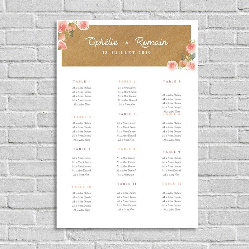 Plan table mariage Couronne florale