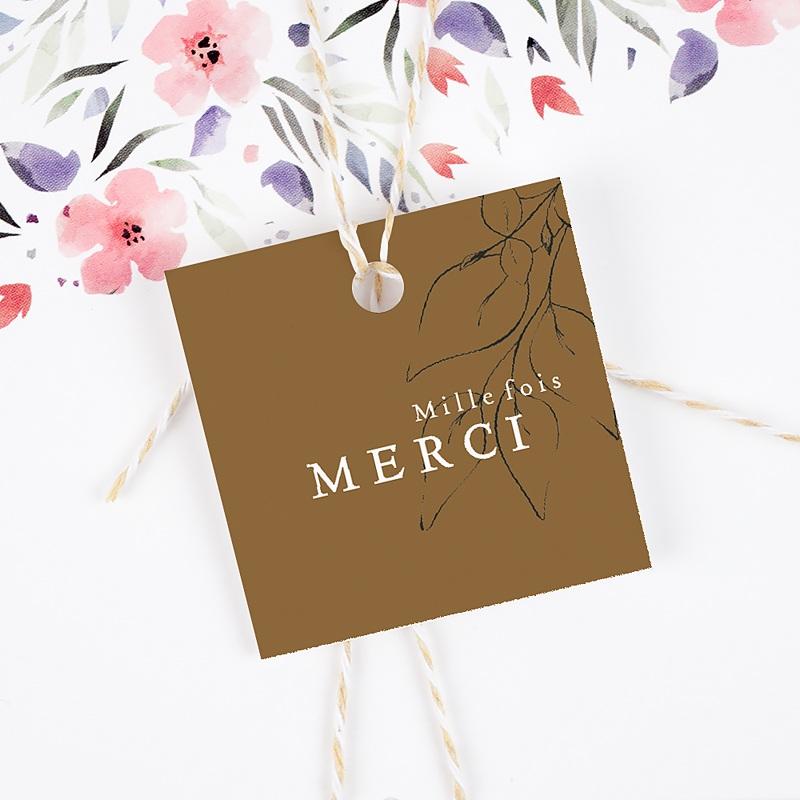 Etiquette Cadeau Mariage Belles Plantes gratuit