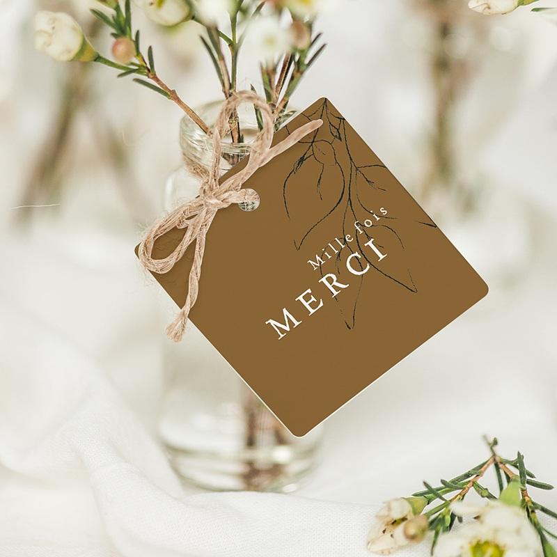 Etiquette Cadeau Mariage Belles Plantes