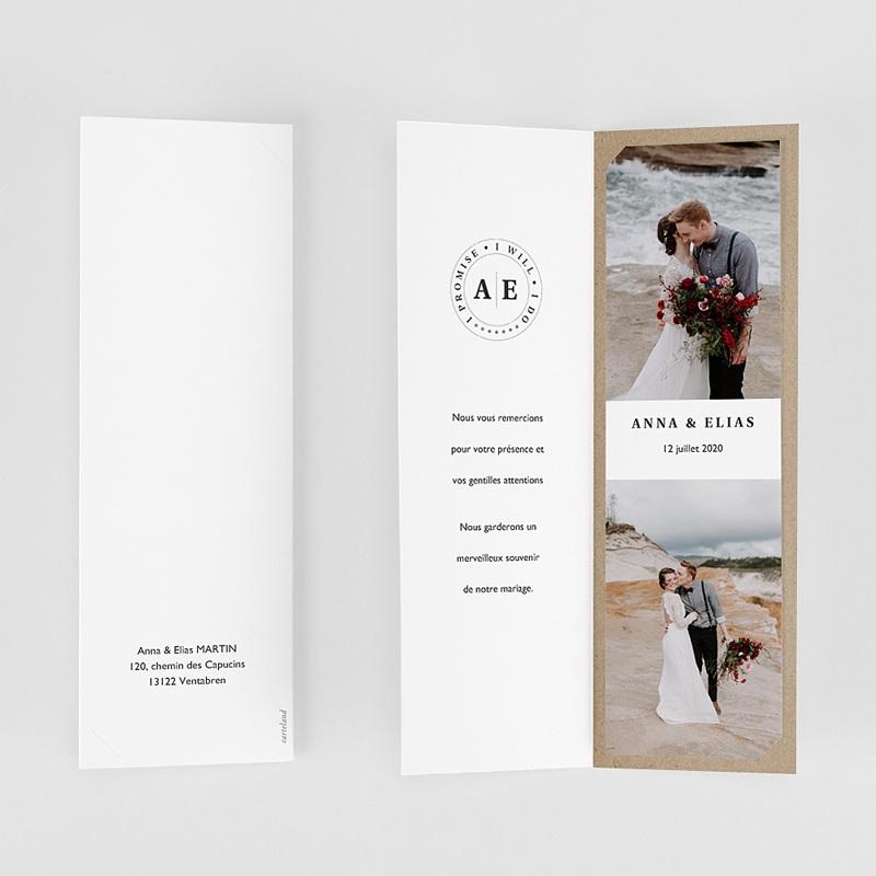 Carte remerciement mariage original Venezia gratuit