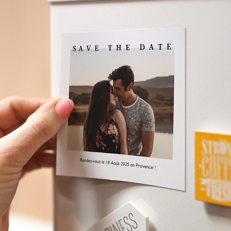 Save The Date Mariage Magnet Venezia pas cher