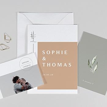 Faire-part mariage champêtre Alpilles