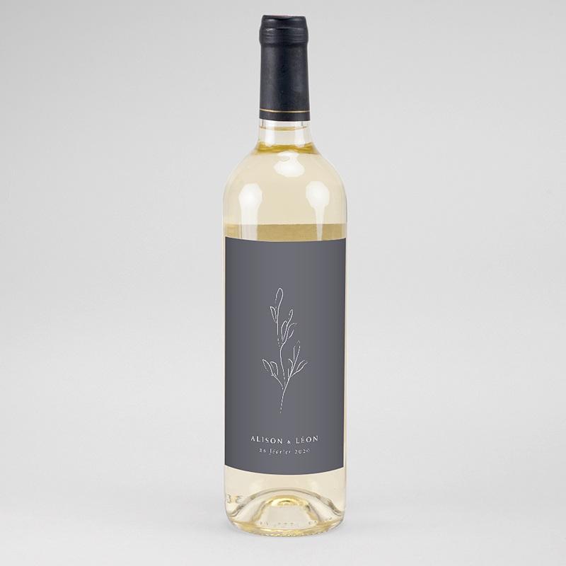 Étiquette bouteille mariage vin Inspiration Kinfolk