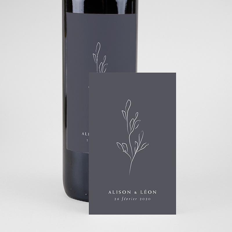 Étiquette bouteille mariage vin Inspiration Kinfolk pas cher