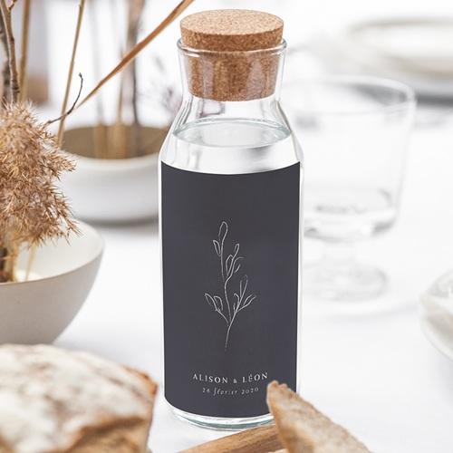 Étiquette bouteille mariage vin Inspiration Kinfolk gratuit