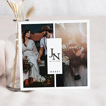 Carte remerciement mariage photo Belles Plantes