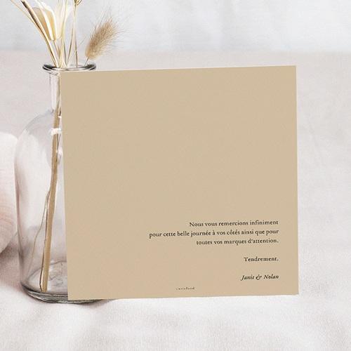 Carte Remerciement Mariage Photo Belles Plantes pas cher