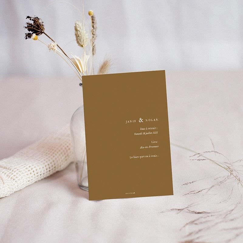 Save The Date Mariage Belles Plantes pas cher