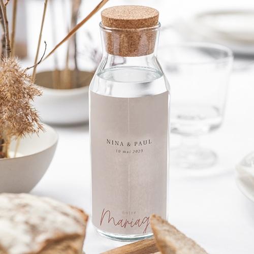 Étiquette bouteille mariage vin Esprit Bohème gratuit
