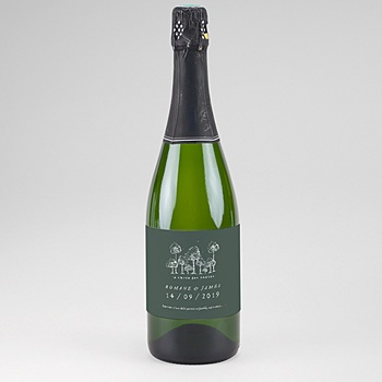 Etiquette bouteille champagne Authentique à personnaliser