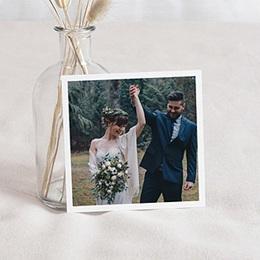 Carte remerciement mariage boheme Authentique