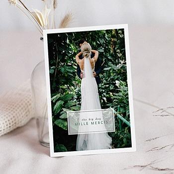 Carte remerciement mariage photo Kinfolk Style