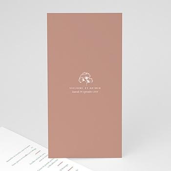 Création menu mariage kinfolk style