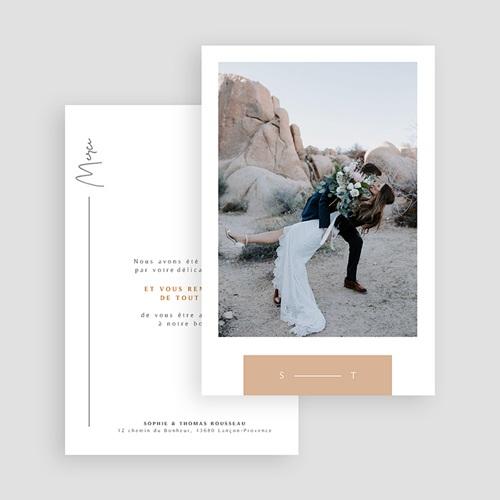 Carte remerciement mariage Alpilles gratuit