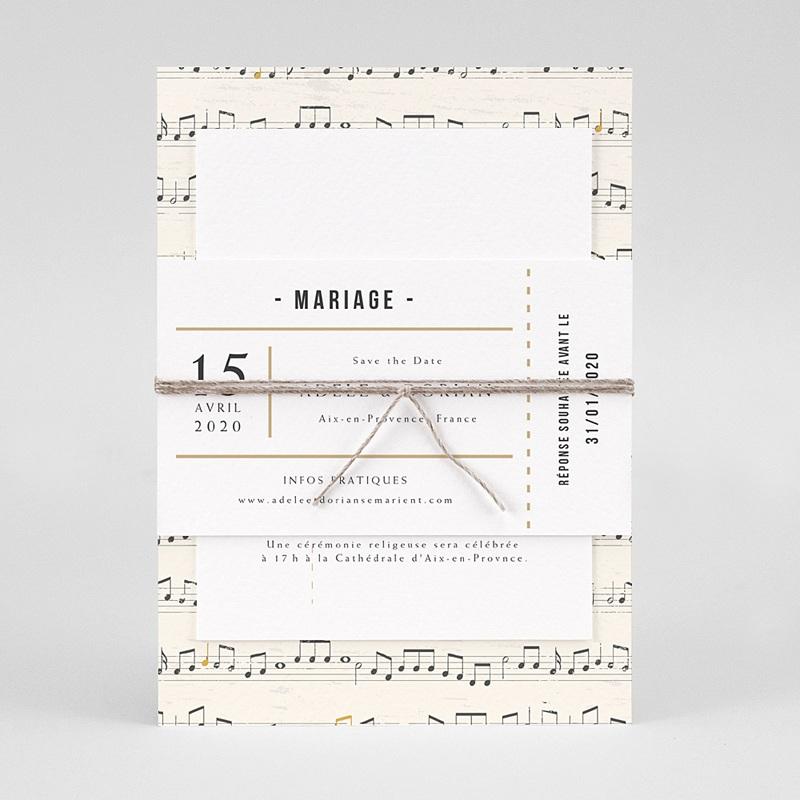 Faire-Part Mariage Original Musique pas cher