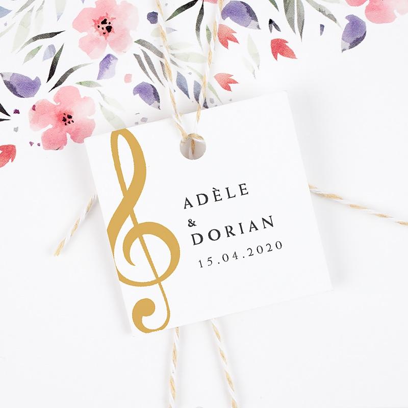 Etiquette Cadeau Mariage Musique gratuit