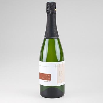Etiquette bouteille champagne terracotta
