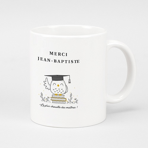 Mug Personnalisé Photo Instit Chouette