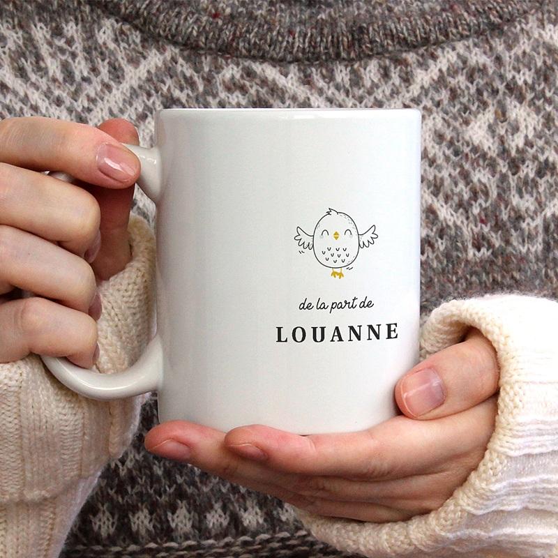 Mug Personnalisé Photo Nounou Chouette, céramique blanche gratuit