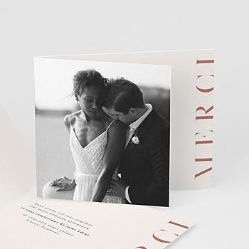 Carte remerciement mariage photo Cachet Moderne