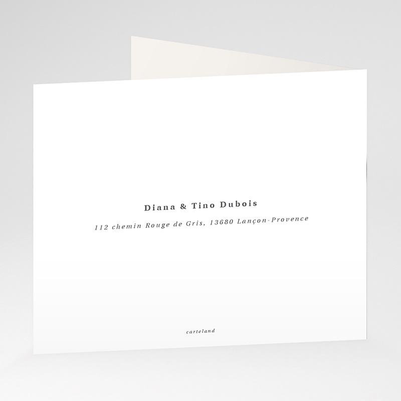 Carte Remerciement Mariage Photo Cachet Moderne gratuit