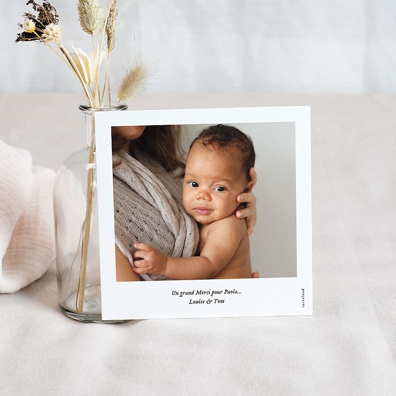 Carte remerciement naissance animaux Girafe pas cher