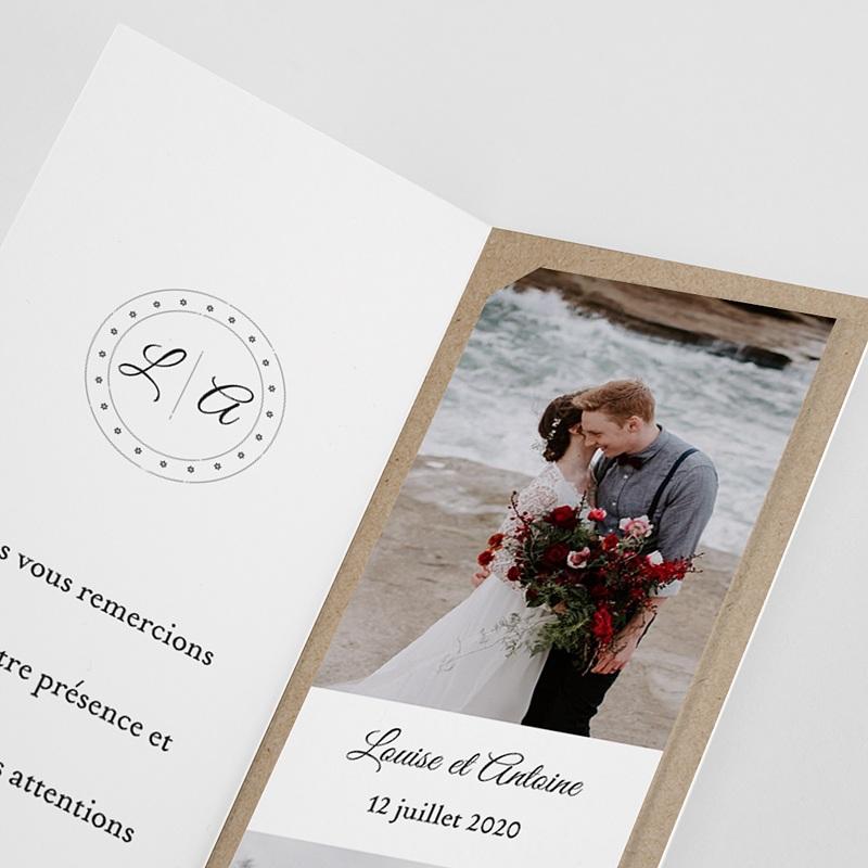 Carte Remerciement Mariage Champêtre Millefiori pas cher