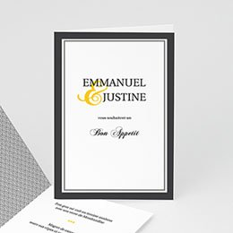 Mariage Estival - gris et jaune - 3