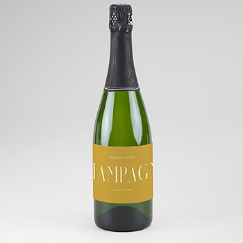 Etiquette bouteille champagne Union Parfaite