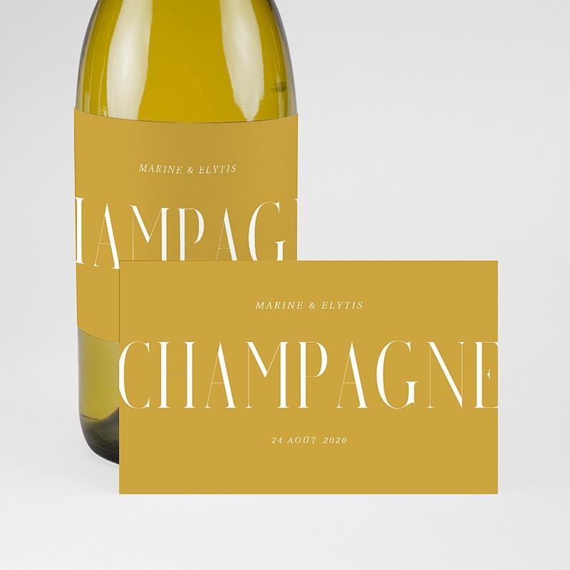 Etiquette Bouteille Champagne Union Parfaite pas cher