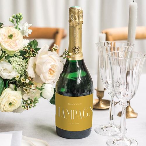 Etiquette Bouteille Champagne Union Parfaite gratuit