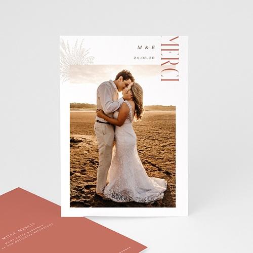 Carte Remerciement Mariage Champêtre Union Parfaite