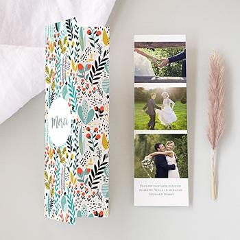 Carte remerciement mariage champêtre Prairie sauvage
