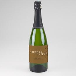 Etiquette bouteille champagne Belles Plantes