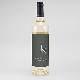 Étiquette bouteille mariage vin Belles Plantes 2