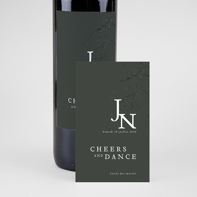 Étiquette bouteille mariage vin Belles Plantes 2 pas cher