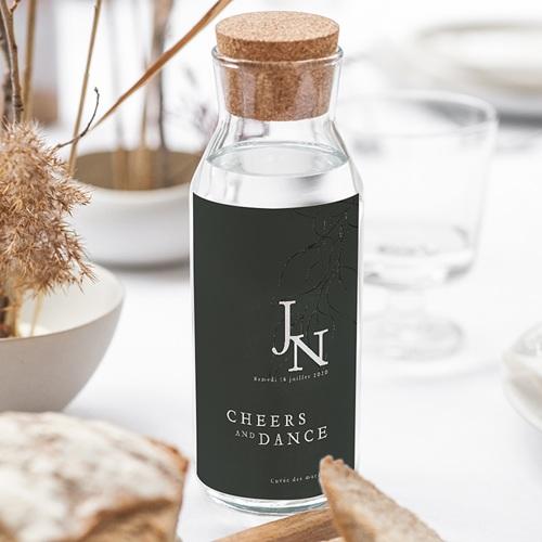 Étiquette bouteille mariage vin Belles Plantes 2 gratuit