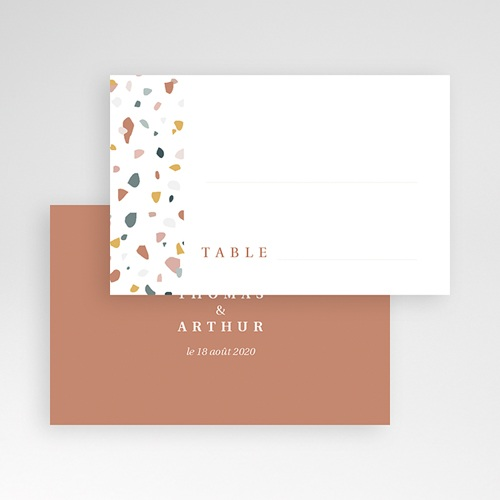 Marque Place Mariage Terrazzo Or pas cher