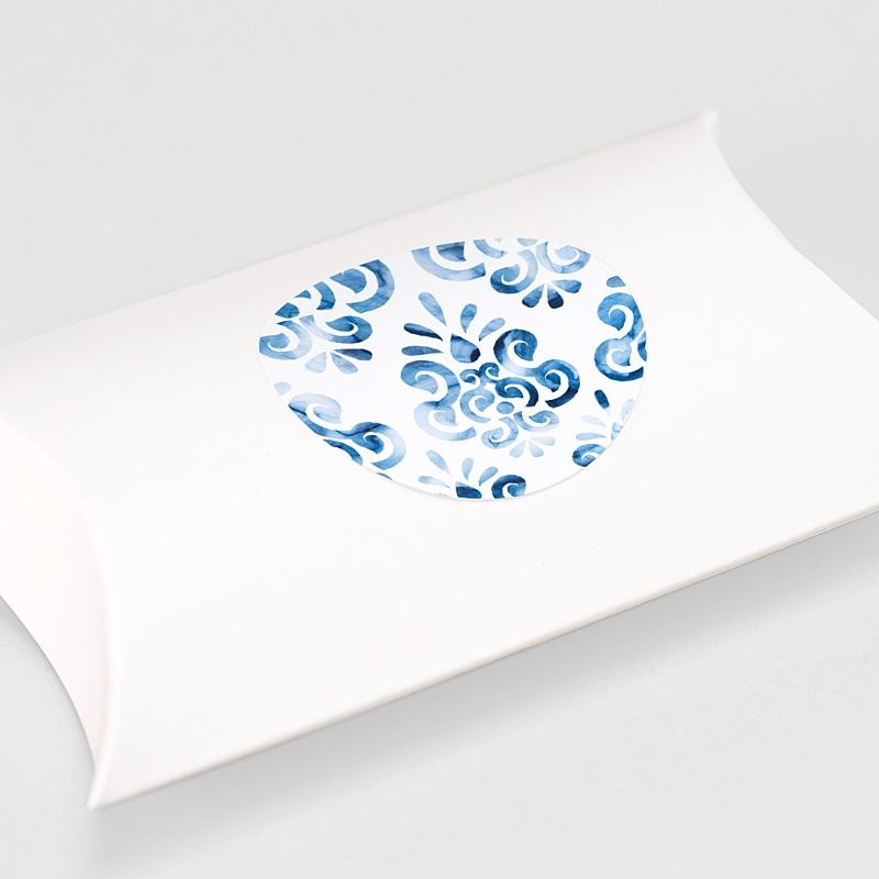 Etiquette Autocollante Mariage Azulejos Bleus gratuit