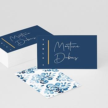Marque place mariage Azulejos Bleus
