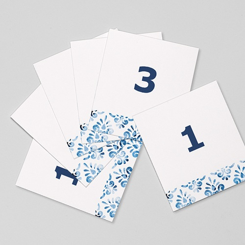Marque Table Mariage Azulejos Bleus