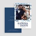 Carte remerciement mariage photo Azulejos Bleus gratuit