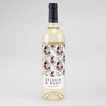 étiquette bouteille mariage vin Rock'n Gold personnalisable
