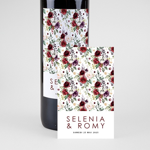 Étiquette bouteille mariage vin Rock'n Gold pas cher
