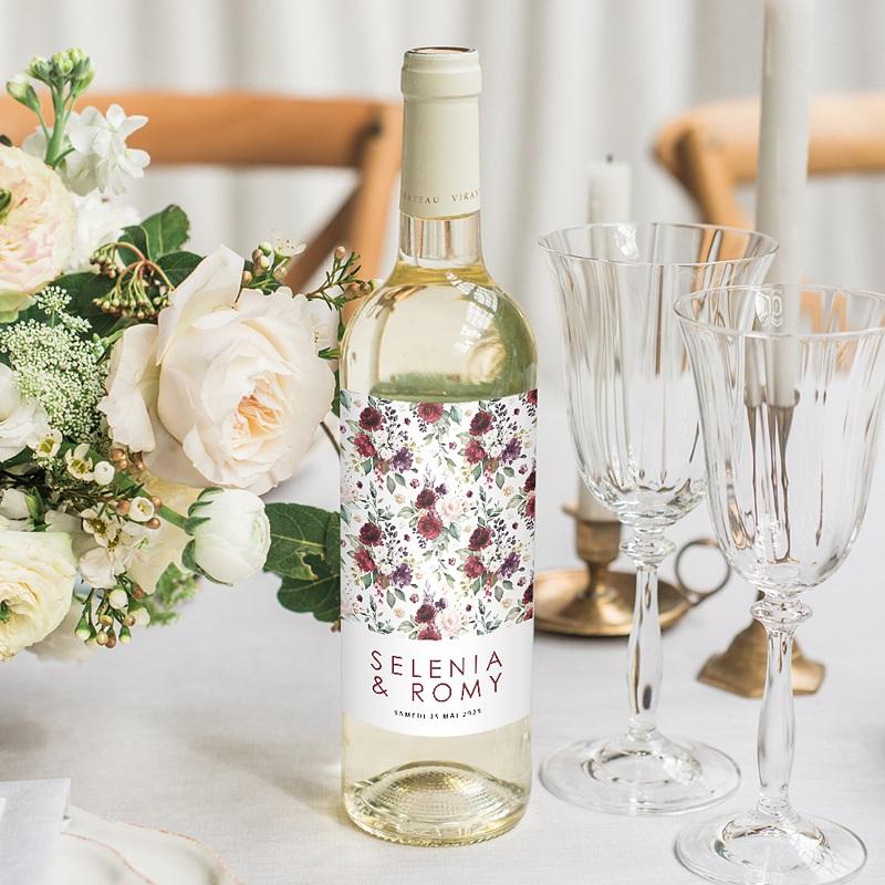 Étiquette bouteille mariage vin Rock'n Gold