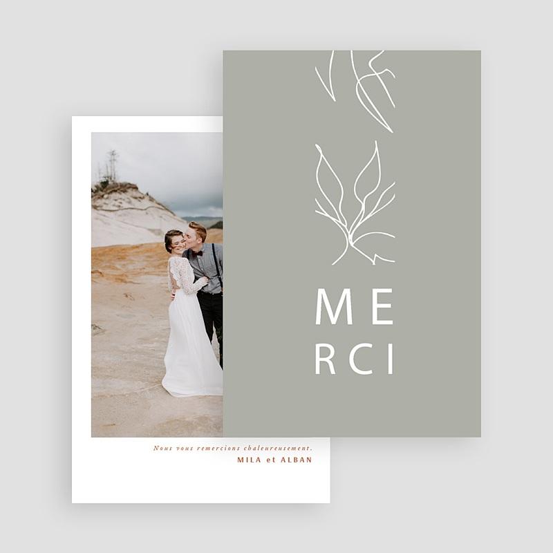 Carte remerciement mariage Milan gratuit